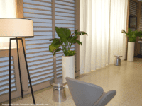 tall cylinder planters indoors