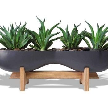 organic shaped gray planter