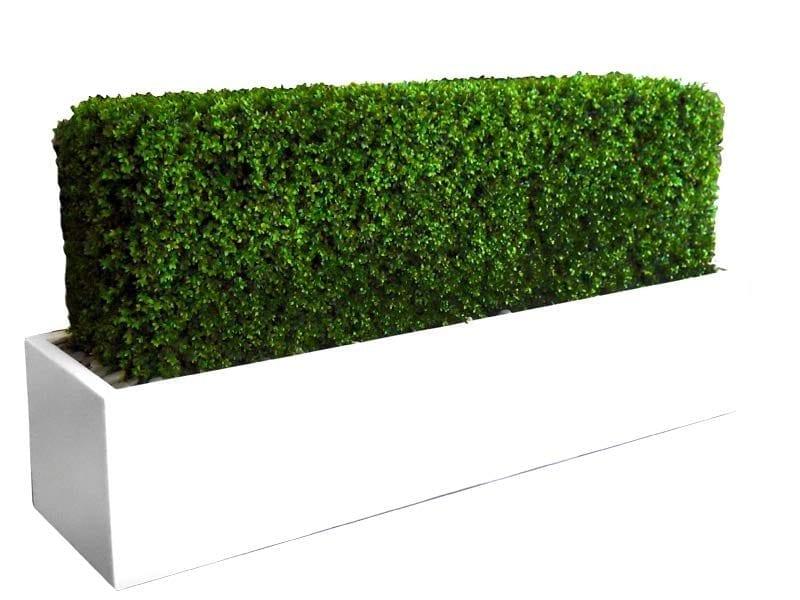 white rectangular fiberglass planter