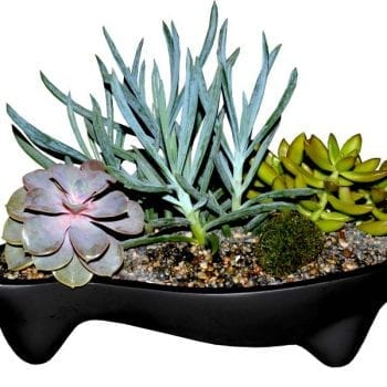 river rock fiberglass planter