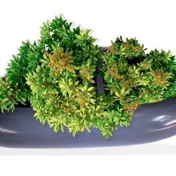 short long fiberglass planter