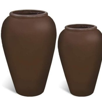 jar shaped fiberglass planters