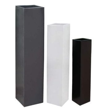 tall square fiberglass planter