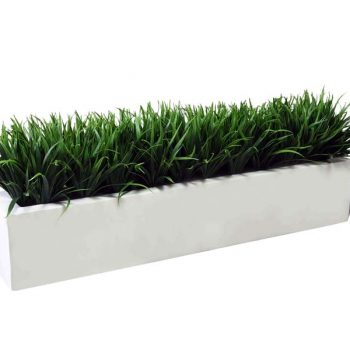long rectangular fiberglass planter