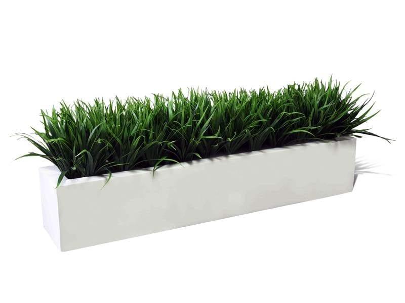 long rectangular fiberglass planter