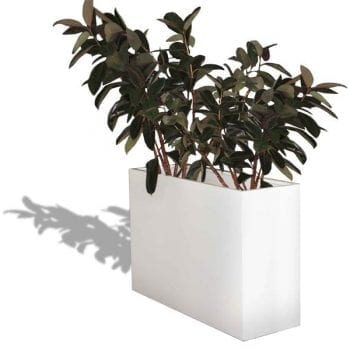 tall rectangular fiberglass planter