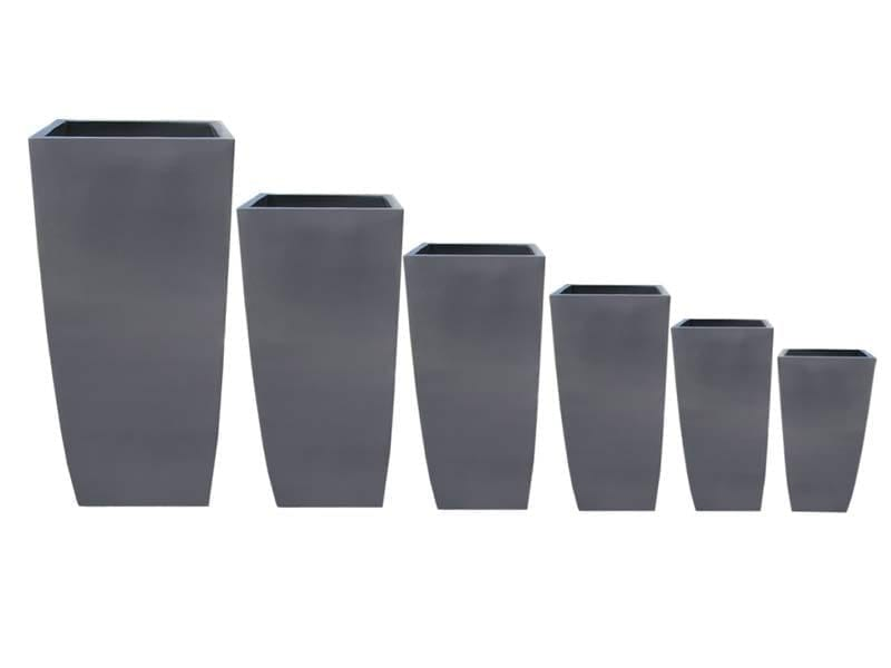 tapered square fiberglass planters