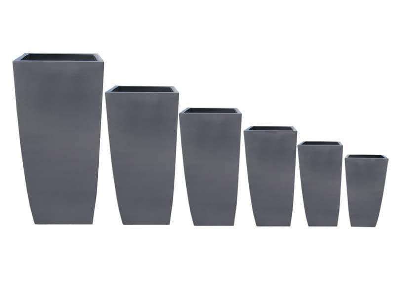 tapered square fiberglass planters
