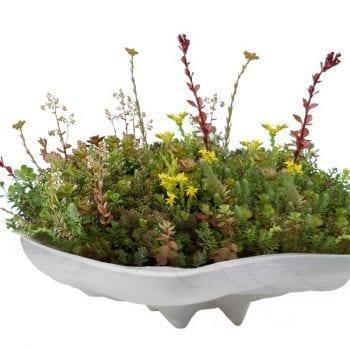pearl table top fiberglass planter