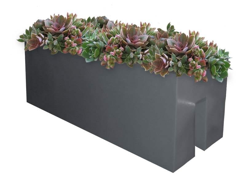 rectangular rail planter