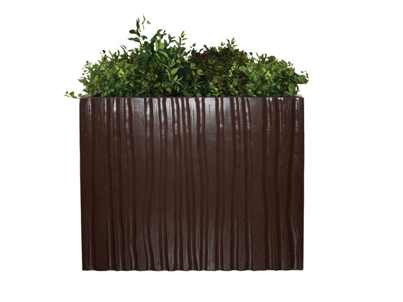 Brown square planter box