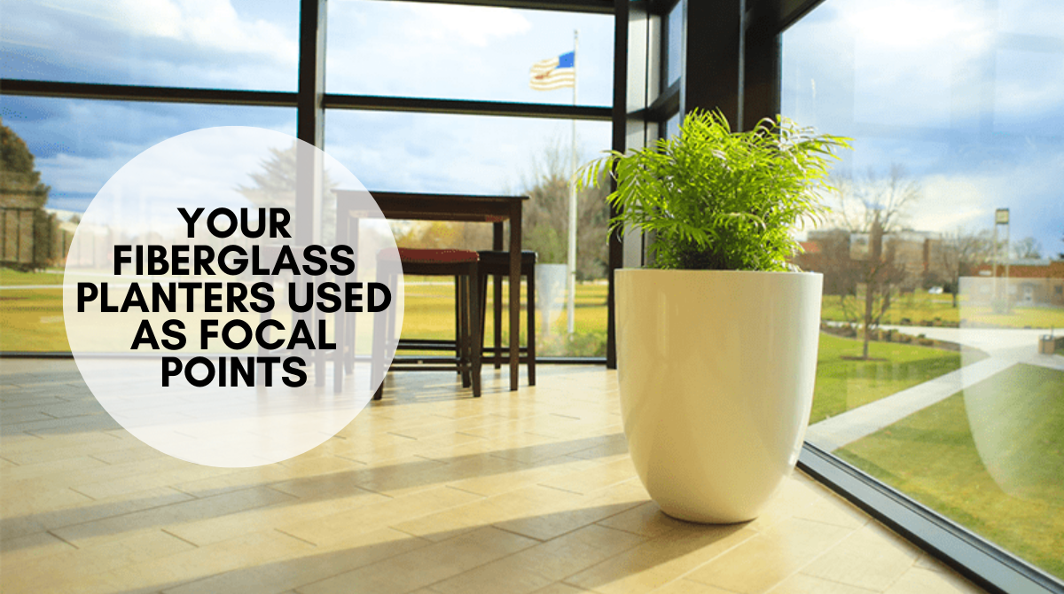 YOUR FIBERGLASS PLANTERS USED AS FOCAL POINTS