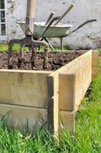 wood planter